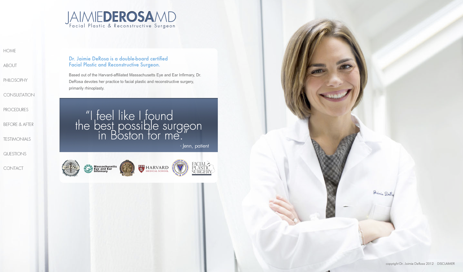 Dr Jamie DeRosa, plastic surgeon